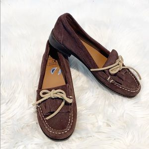 Lucky Brand Brown Suede Moccasins size 6 1/2